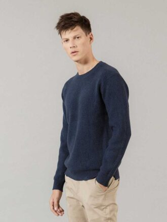 Distressed Style Knitted Pullover For Men
