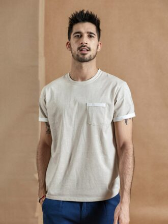 100% Cotton Vintage Style Short Sleeve T-shirt For Men