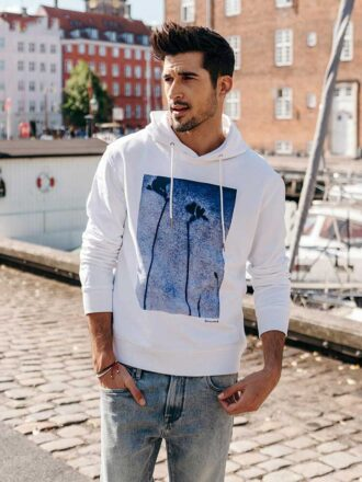 100% Cotton Printed Casual Hoodie for Men