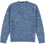 Jacquard Knit Argyle Wool Pullover For Men