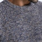 Casual O-neck Heathered Color Pullover For Men