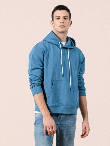 Solid Color 100% Cotton Hoodie