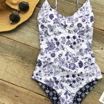 Light Up The Night Reversible Printed One-piece Swimsuit