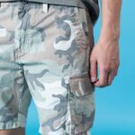 Camouflage Cargo Multi-pocket Men's Shorts