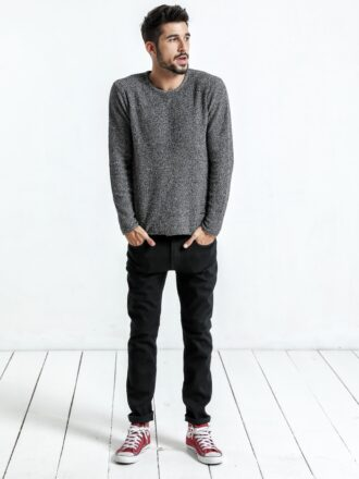 Wool Knitted Slim Fit Casual Men's Pullover