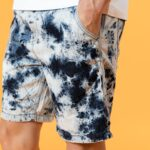 Tie Dyed Casual Denim Men's Shorts