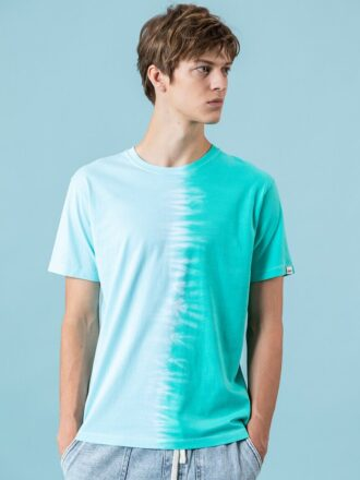 100% Cotton Short Sleeve Tie-Dyed Men's O-Neck T-Shirt